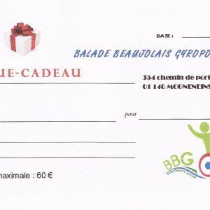 Chèque cadeau - Utilisable chez Balade Beaujolais Gyropode